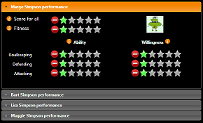 An image of the performance user interface.